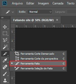 Fatiando Layout no Photoshop para Web 1