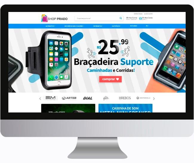 Criação de Loja Virtual, Criar E-Commerce ou Desenvolver 1